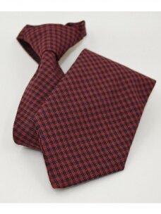 Bordo spalvos mokyklinis kaklaraištis su smulkiu raštu
