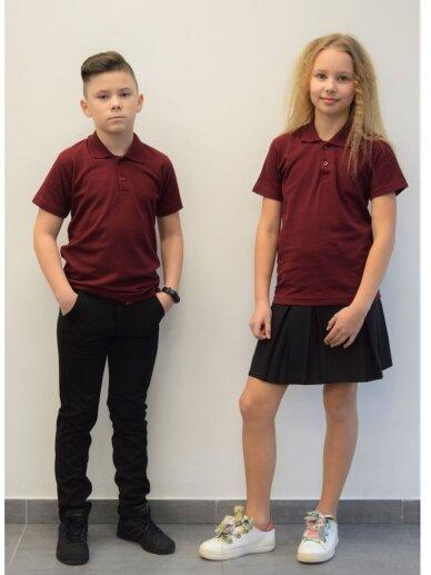 Bordo polo marškinėliai