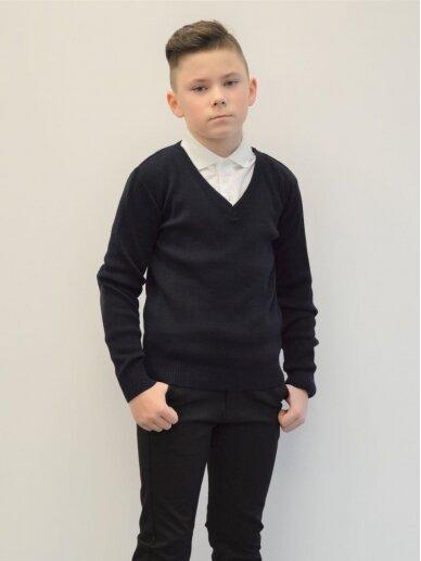 Įvelkamas  tamsiai mėlynos spalvos megztinis 2