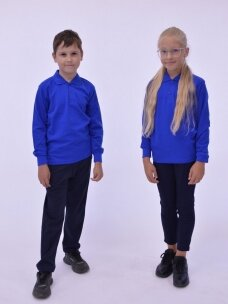 Mėlyni polo marškinėliai