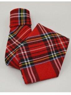 Raudonas su raštu kaklaraištis