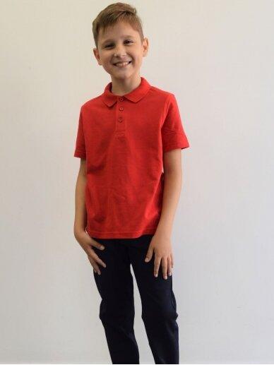 Raudoni polo  marškinėliai 3