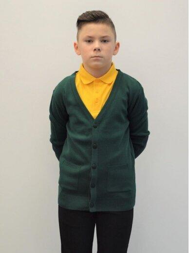 Susagstomas žalios spalvos megztinis 2
